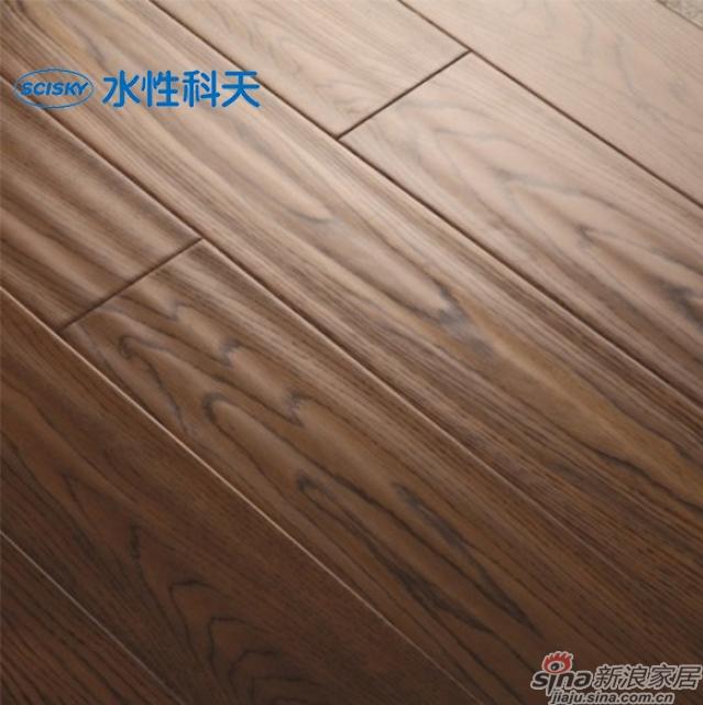 可可浆栎木实木复合地板