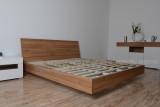 简约风排骨架双人床 配套个性床头柜