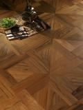 木蜡油纯生地板-S500黑金线拼花N12