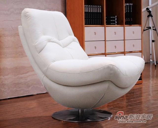 【新干线】真皮白色休闲组合单/双/三人位/客厅1+2+3现代组合沙发-1