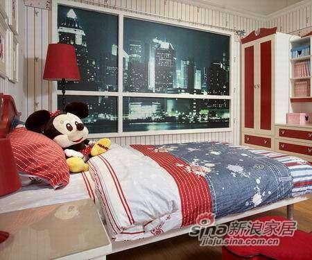 迪士尼儿童彩色家具-经典米奇床-0