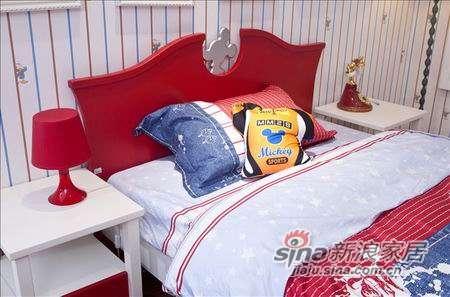 迪士尼儿童彩色家具-经典米奇床-1