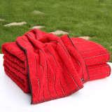 多样屋 TAYOHYA 卡萨布兰卡系列 条纹浴巾-红