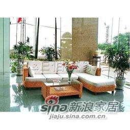 B&E佰宜家居 田园风格环保藤艺家具组合沙发 LS827 -0