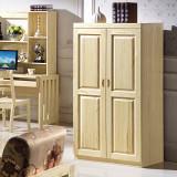 现代风格进口芬兰松实木家具环保实木原木色衣柜