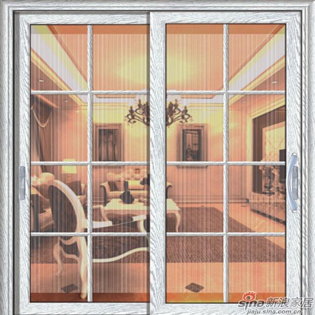 U-5228 加州白像宝嘉丽格条+丝印軒尼斯门窗