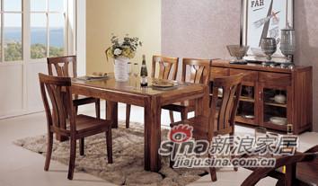 乌金木TW01-11餐桌+TW01-12餐椅