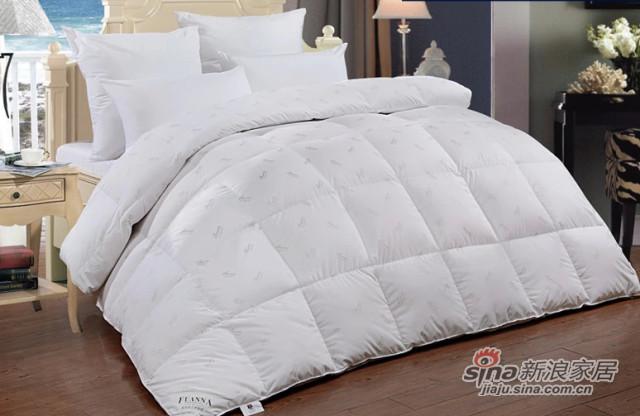 富安娜家纺羽绒被100%白鸭绒被芯加厚全棉被子冬被珍质羽绒被-0