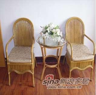 凰家御器藤椅三件套阳台椅休闲椅藤家具NH-R014-0