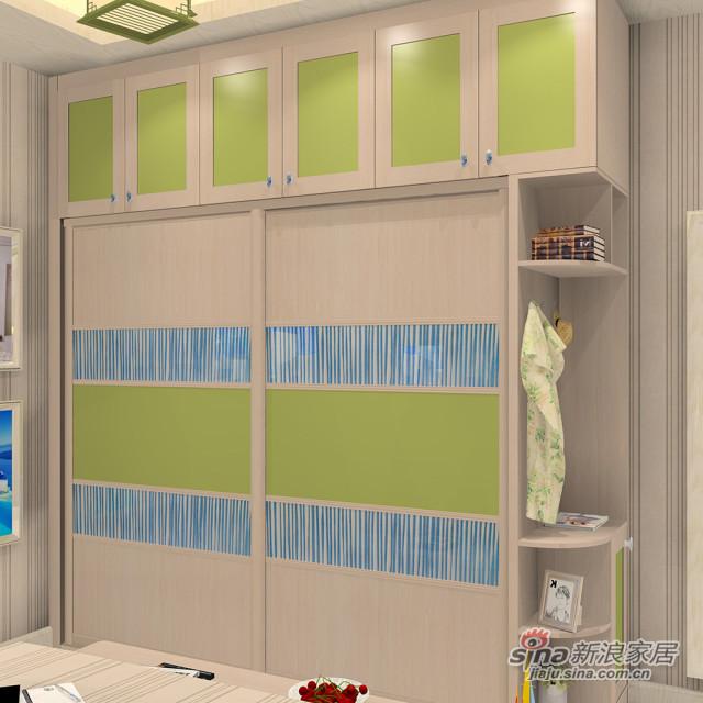 木纹+实色衣柜-1