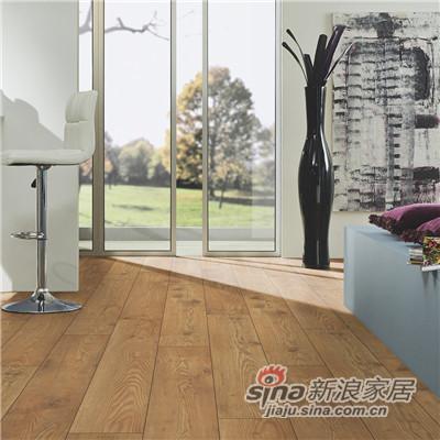 德合家SAXON 强化地板5537茶色栗木