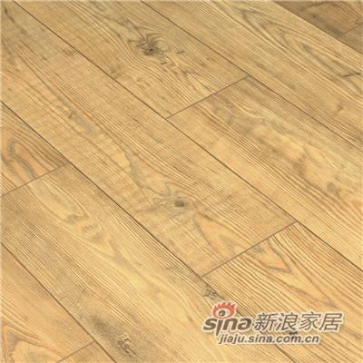 德合家SAXON 强化地板5537茶色栗木-1