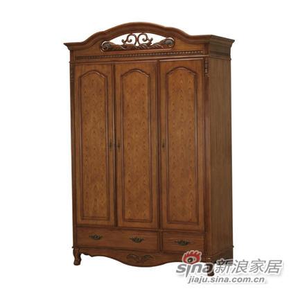 艾芙迪 卧室家具 衣橱 三门衣橱 实木 原木色 ACL50B-751M