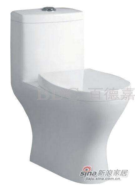 百德嘉陶瓷件连体座便器-H3311273-0