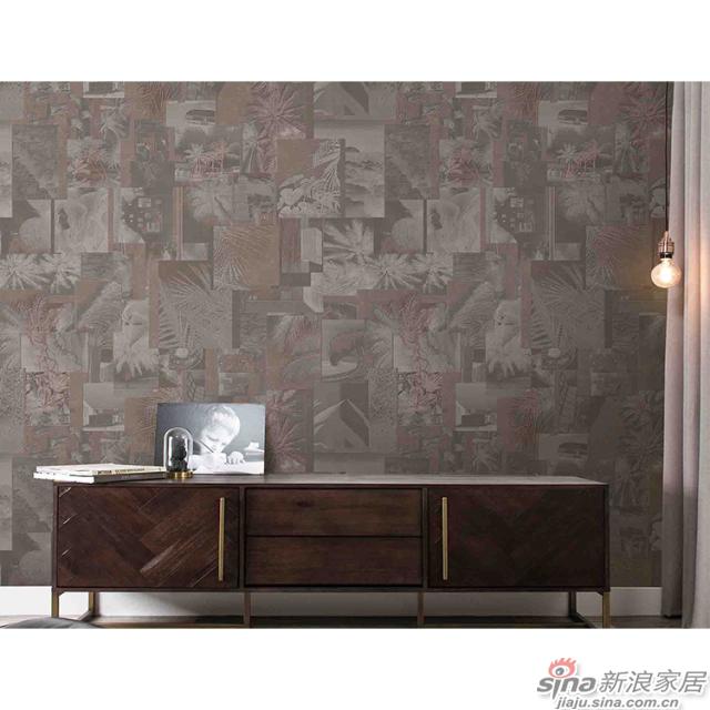 变奏曲_复古明信片堆叠的奇妙构图壁画文艺复古背景墙_JCC天洋墙布