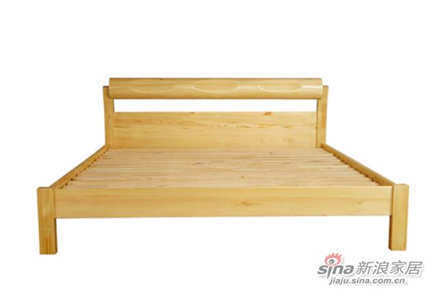 艾森木业名松屋松木系列全实木床-2