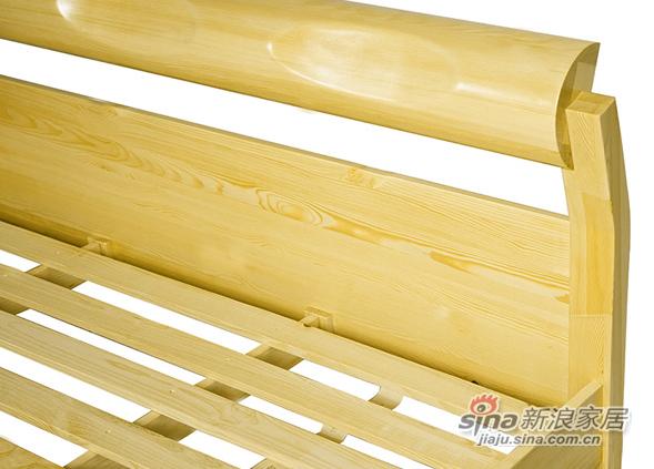 艾森木业名松屋松木系列全实木床-3