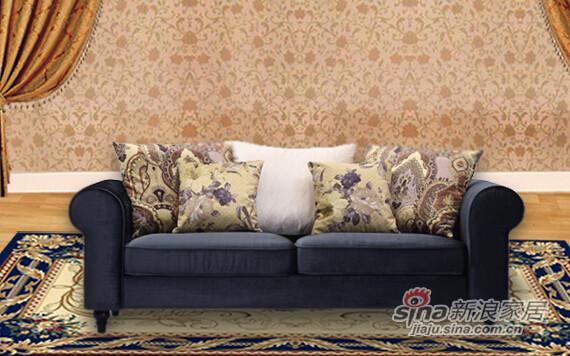 欧嘉璐尼 现代简约欧式布艺沙发