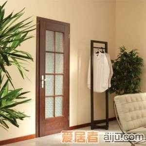 珊嘉实木复合门QB13木框玻璃门T口