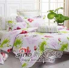 紫罗兰家纺床上用品全棉印花四件套春天的故事PCKFT73-4-0