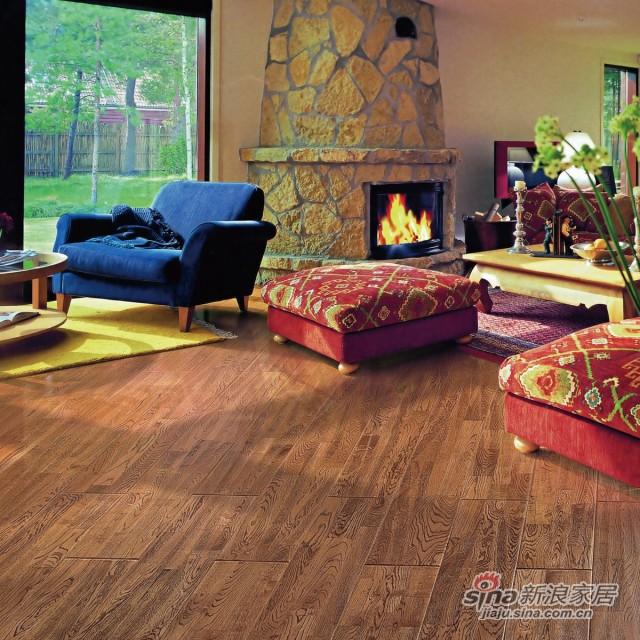 瑞澄地板--美式田园系列--栎木豪情印第安RC�CFG901-0
