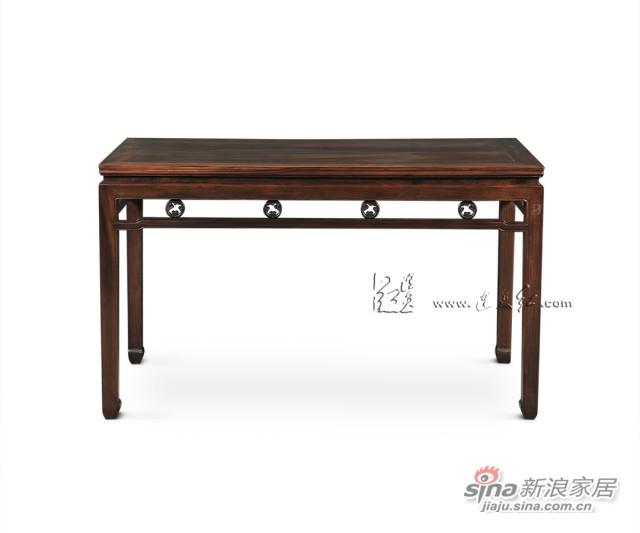 连天红团螭纹长桌-0