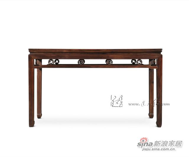 连天红团螭纹长桌-3