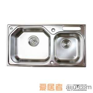 GORLDE优质不锈钢水槽/洗菜池 欧雅系列OY03(大小盆)2