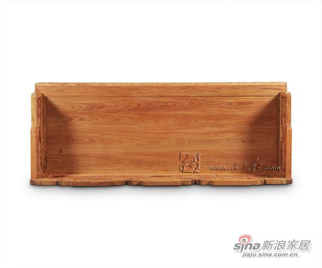 连天红溪山清远图三人椅-4