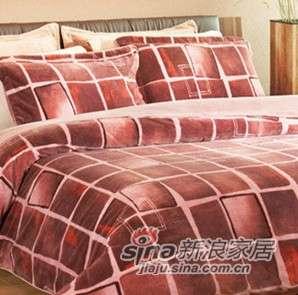 维科家纺暖睡康空间格式四件套