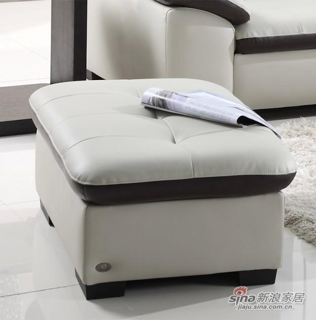 左右沙发真皮沙发配套脚踏-0