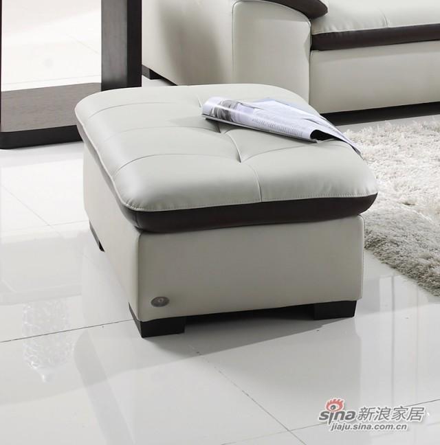 左右沙发真皮沙发配套脚踏-1