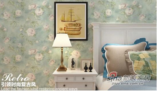 格莱美墙纸经典作旧优雅大花美国进口纯纸壁纸