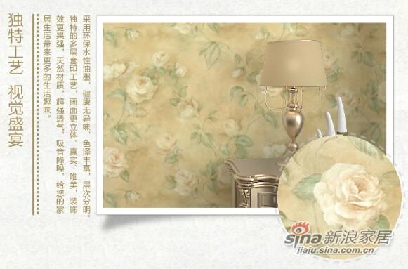 格莱美墙纸经典作旧优雅大花美国进口纯纸壁纸-2