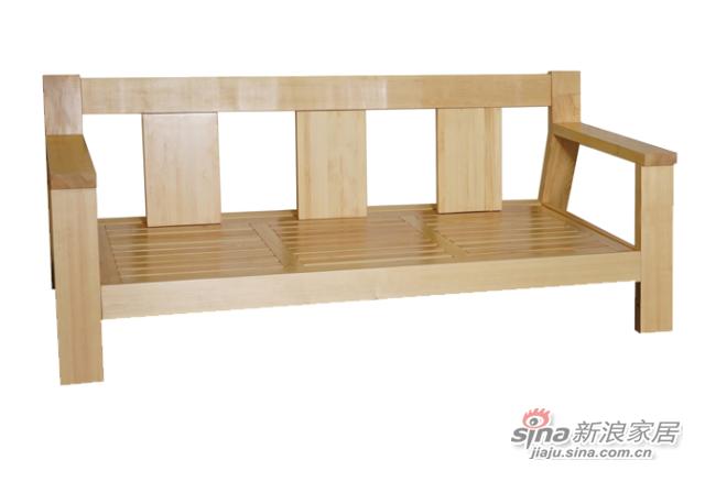 艾森木业名松屋松木系列全实木三人沙发-1