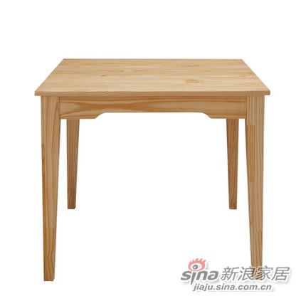 喜梦宝实木家具 实木餐桌方桌 简约田园餐桌饭桌方形餐桌松木餐桌-0
