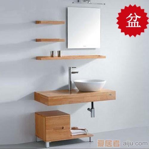 法恩莎实木浴室柜FP4612B盆(460*460*195mm)1
