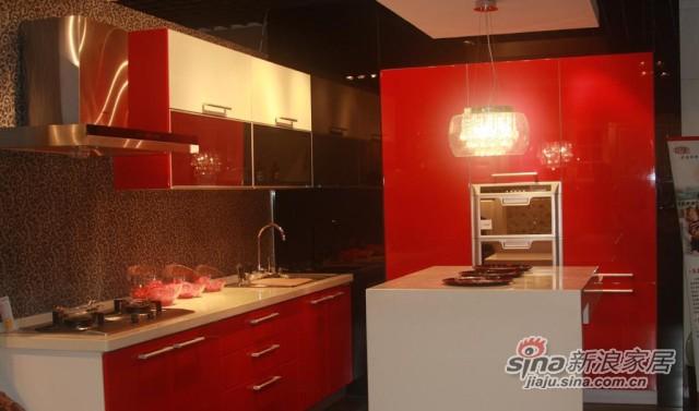 威瑞红色烤漆橱柜