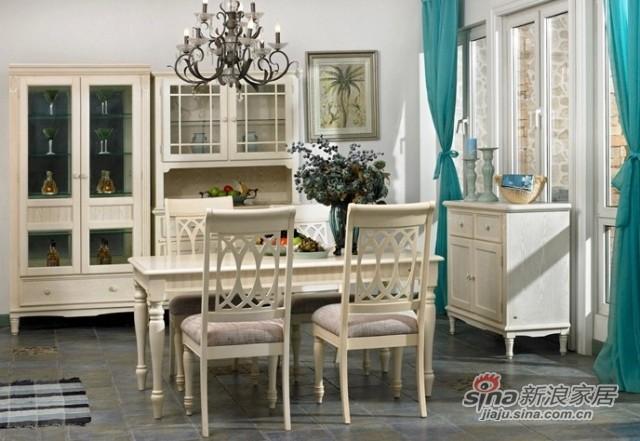 华日家居实木美式餐桌椅-0