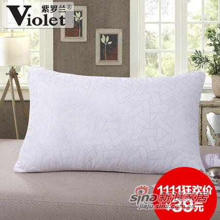 紫罗兰家纺 枕头 羽丝绒护颈椎枕芯-0