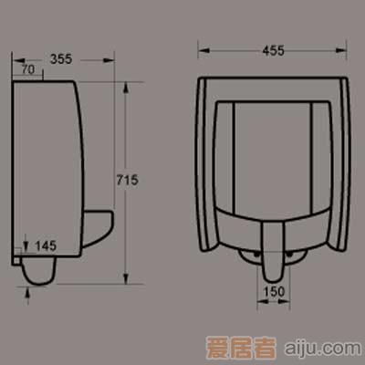惠达小便器-U7182