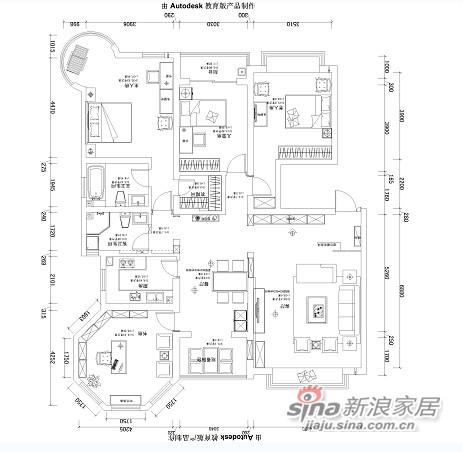 嘉铭桐城148平米四室两厅-4