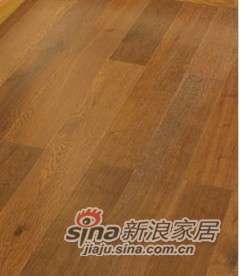 四合浮雕橡木实木复合地板地热地板锁扣地板-0