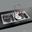 GORLDE优质不锈钢水槽/洗菜池 环保星系列HBS-2#(大小盆)