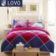 lovo 罗莱家纺出品 床上用品 纯棉全棉四件套件被套床单
