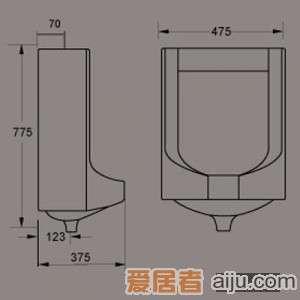 惠达小便器-U7682