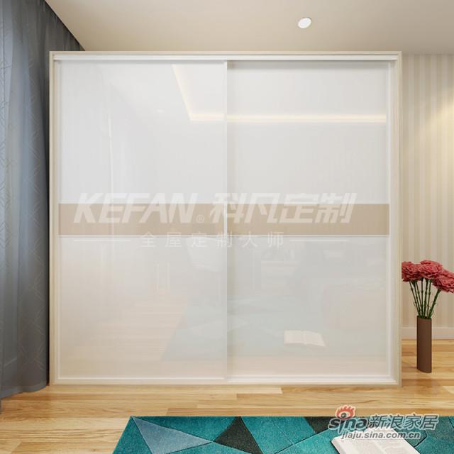 科凡简约现代家居推拉门衣橱 烤漆移门整体板式卧室简易衣柜CY016-3