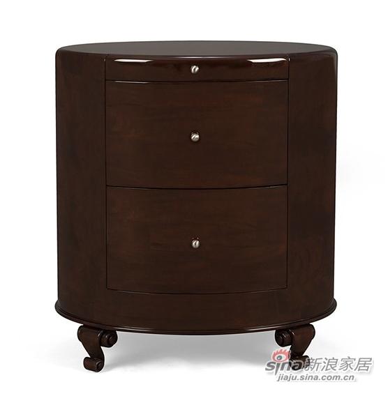 蓬巴杜实木床头柜