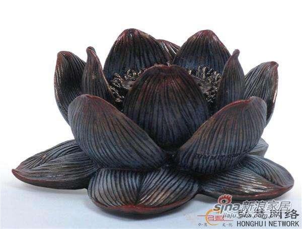 威罗尼-蓮花燒香座-冷镀铜