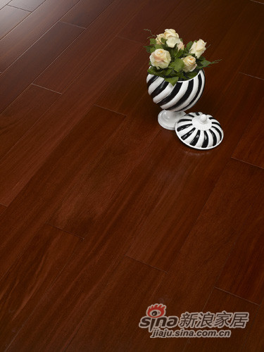 【永吉地板】实木晶砂面——(香二翅豆)卡门 龙凤檀本色